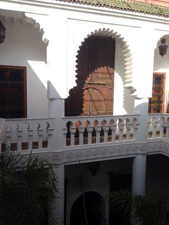 Riad Tahar : balcon del hotel