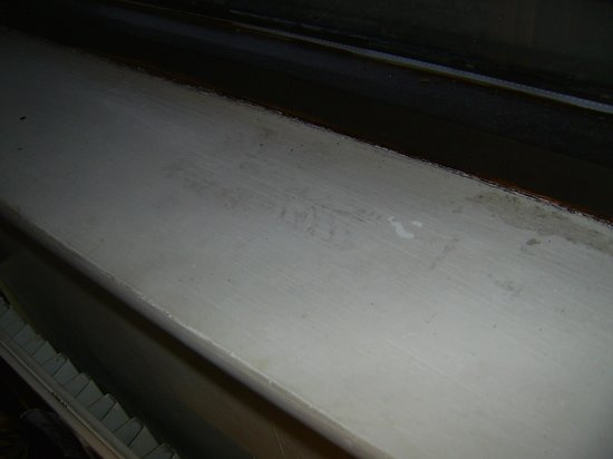 Crompton House : window sill in need of paint