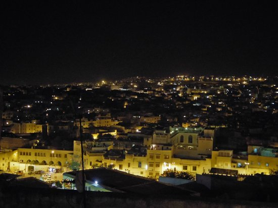 Riad Nassim: Night view from the terrace