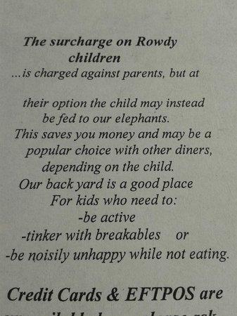 Mount Elephant Pancakes: What happens to rowdy children!