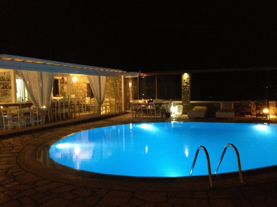 A Hotel  Mykonos: Vista notturna dalla camera