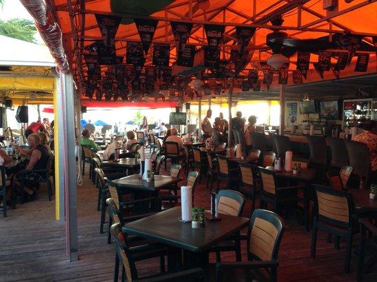 Nemo's on the Beach: the bar area