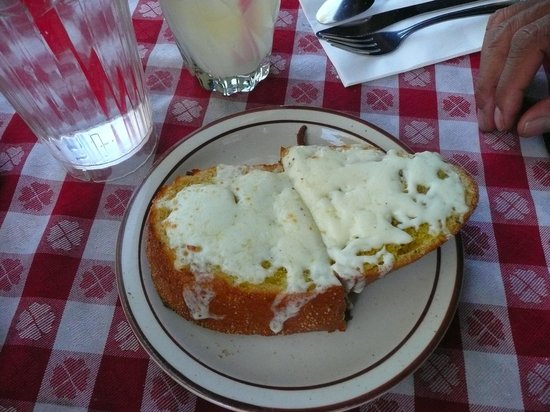 The Hideaway Restaurant : The yummy soft and crusty mozzarella cheese bread!  :))