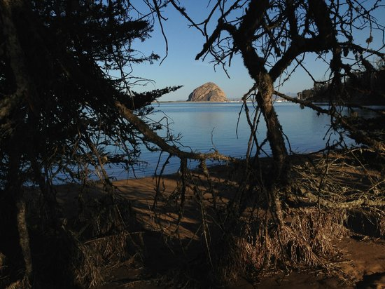 Inn at Morro Bay: View of Morro Rock from the hiking trail