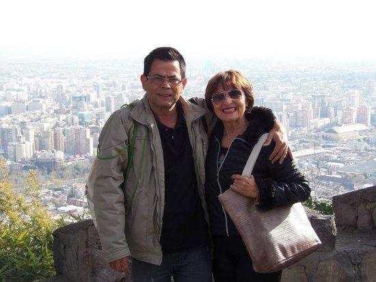 เนินเขาซานคริสโตบาล: Cerro San Cristobal,Santiago,Chile.