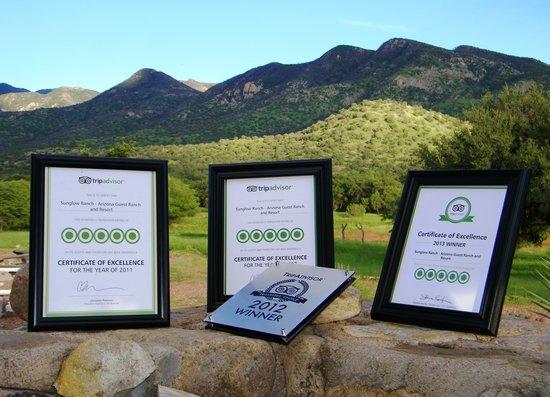 Pearce, AZ: Sunglow Ranch TripAdvisor Awards 2011, 2012, 2013!