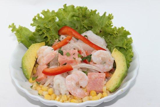 ceviche de camarones peruano