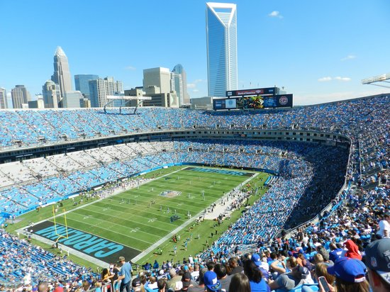 The Bank of America Stadium: Giants vs Panthers