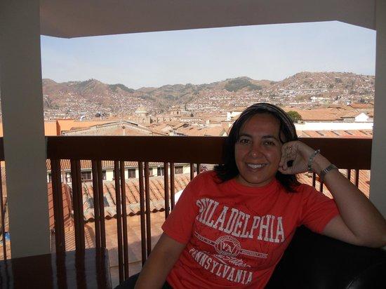 Siete Ventanas Hotel: Vista de Cuzco a partir da sacada do 3o. andar