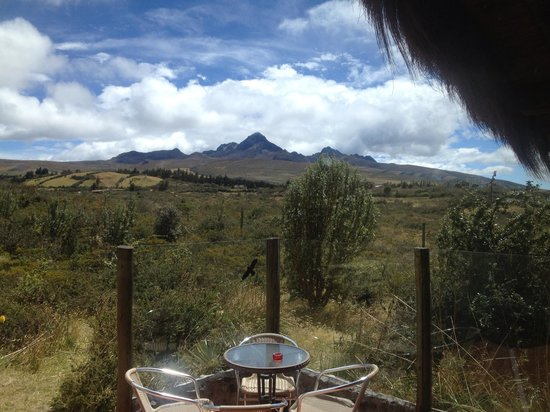 Chilcabamba Mountain Lodge: Sicht auf den Cotopaxi