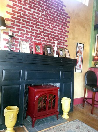 Gathering Grounds: Faux fireplace