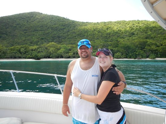 Big Blue Excursions: Us on the boat at Honeymoon Beach
