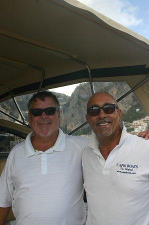 Capri Boats : Our friend Jim and Captain Valentino
