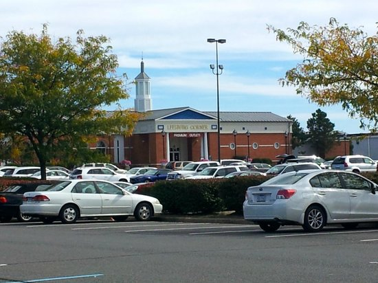 Leesburg Corner Premium Outlets: As seen from the parking lot