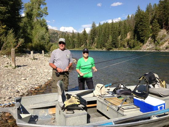 Snake River Angler & Scenic Float Trips: The float boat and end point of the trip