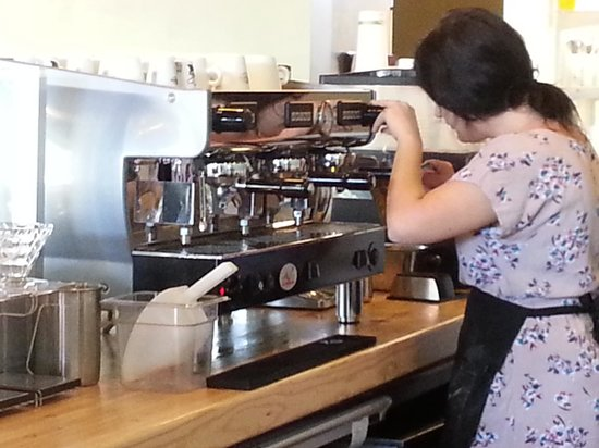 The Cutting Board Bakery and Cafe: Making the perfect latte