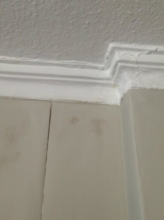 53 Frederick Street: Wall poorly repaired and dirty