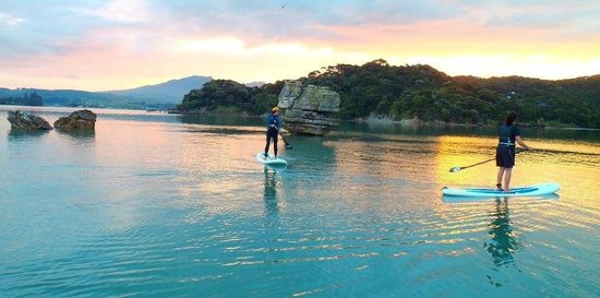 Raglan Paddleboarding : sunset stand up paddle