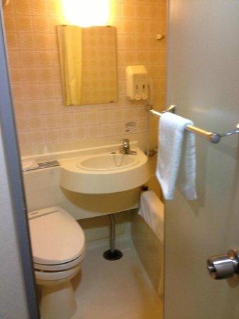 Hotel New Plaza Kurume: トイレと洗面