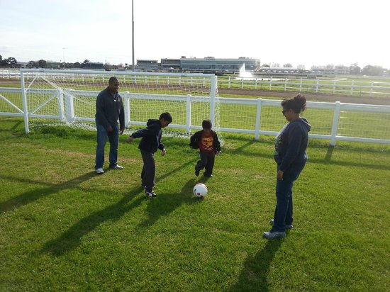Caulfield Racecourse: Football.