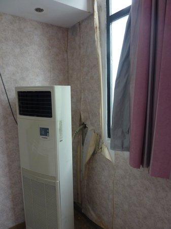 Ala Hotel: Schimmel an den Wänden, Tapeten kommen runter