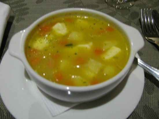 La Casona de la Ronda Heritage Boutique Hotel: Comfort food - delicious potato soup with fresh cheese