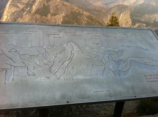 Glacier Point: mapa dos principais pontos