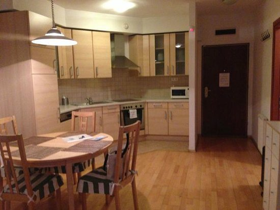 Town Hall Apartments: Dining room & Kitchen
