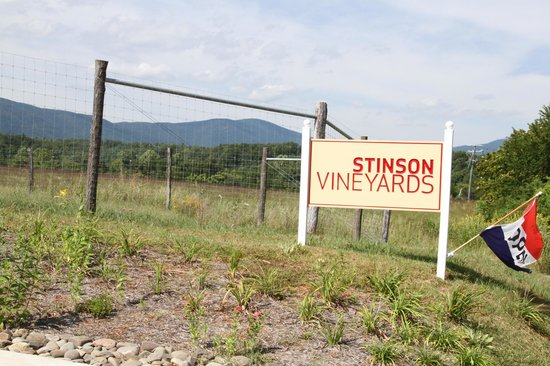 Stinson Vineyards: Welcome sign