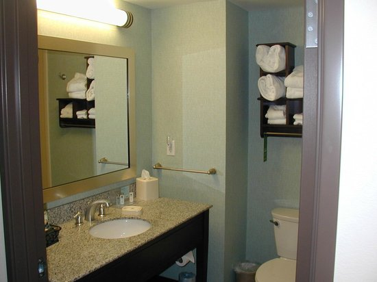 Hampton Inn Suites Wheeling - The Highlands: Spacious bathroom