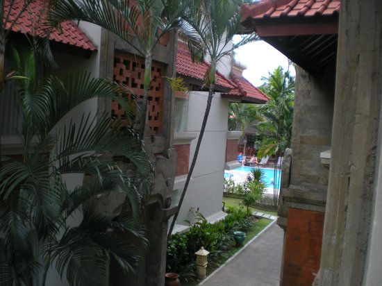 White Rose Kuta Resort, Villas & Spa: the pool from our balcony