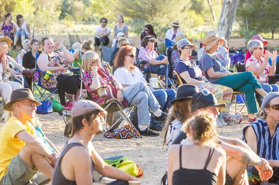 Alice Springs Courtyard Sessions: The crowd loved the music on offer.