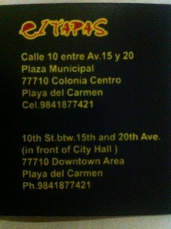 El Tapas & Company: adress