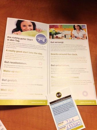 B&B Hotel Stuttgart-City: No room key, just 6 digit PIN
