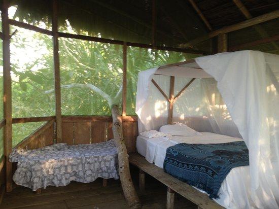 Refugio Altiplano Ayahuasca Retreats: Bed in Tree house