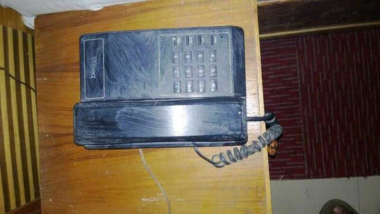 Hotel Snow Park: Phone which you cant even touch with bare hands