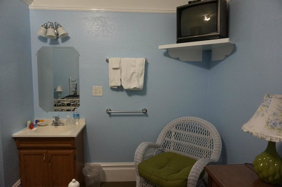 Hayes Valley Inn: Typical size room with basin