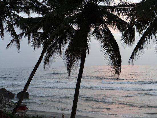 Black Beach Resort: beach view in the evening