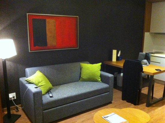 Couch Can Turn Into Sleeping Bed Picture Of Fraser Place Namdaemun Seoul Seoul Tripadvisor