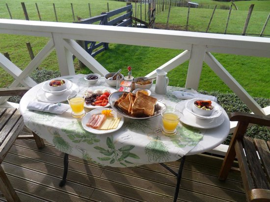 Bycroft Lodge Bed and Breakfast : Wonderful breakfast!