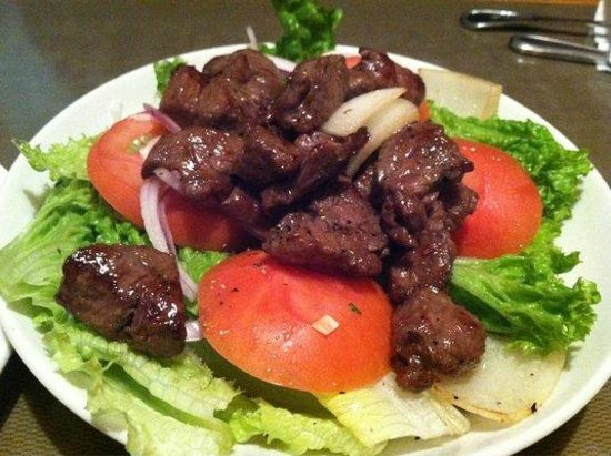 Butterfly Belly Asian Cuisine: Flame tossed Luc Lac Steak