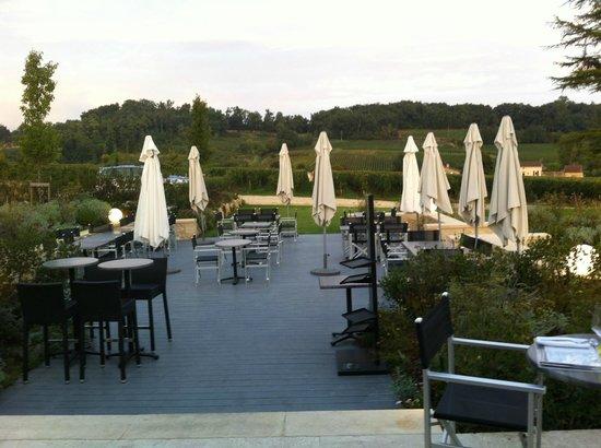 L'Atelier de Candale : très belle terrasse