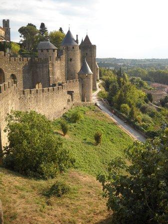 Chateau Comtal: vue des rampards