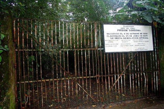 National Park Gorgona: Isla Gargona, gate to the jail