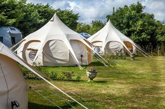 Lowarth Gl&ing Daisy and Poppy tents in the sunshine & Daisy and Poppy tents in the sunshine - Picture of Lowarth ...