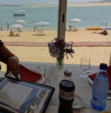 L'Araignee Gourmande : vue sur la plage, de notre table