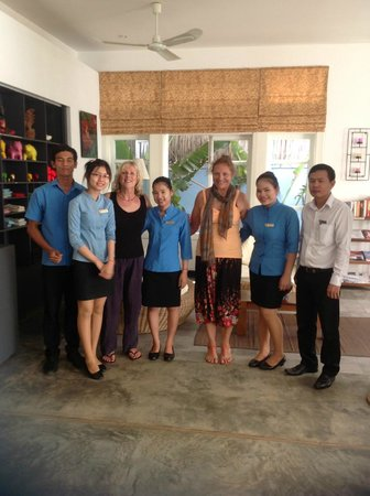 Frangipani Villa Hotel, Siem Reap: The lovely hotel staff