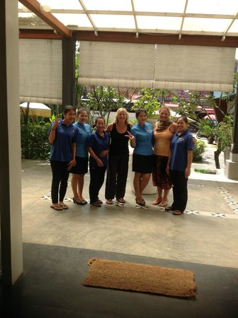 Frangipani Villa Hotel, Siem Reap: Our wonderful masseuses at the spa