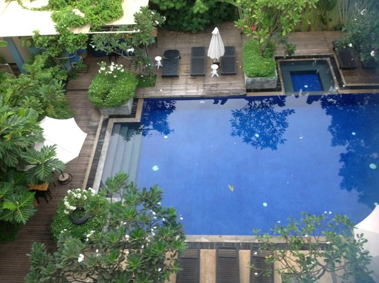 Frangipani Villa Hotel, Siem Reap: View from my balcony