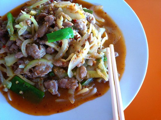 Wu's Chinese Restaurant and Sushi Express: SHREDDED PORK IN GARLIC SAUCE